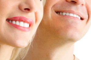 close up of smiling couple
